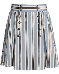 Olympia Le-Tan Knee Length Skirt multicolor - Lyst