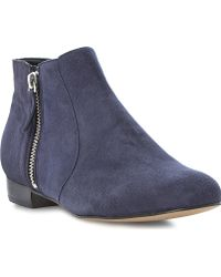 Dune Pandas Side Zip Ankle Boots Navy - Lyst