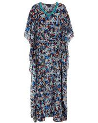 Saloni - Zoe Embellished Kaftan Gown - Lyst