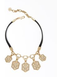 Ann Taylor Mosaic Statement Necklace - Lyst