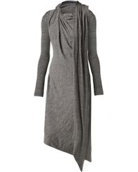 Vivienne Westwood Anglomania Gray Arro Dress - Lyst