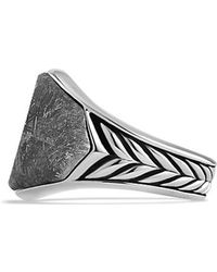 David Yurman Chevron Round Signet Ring - Lyst