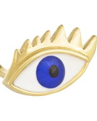 Delfina Delettrez 9-karat Gold Pearl and Enamel Ring - Lyst