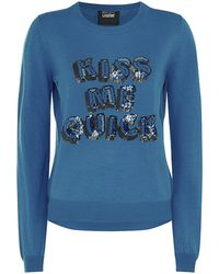 Markus Lupfer Kiss Me Quick Sequin Sweater - Lyst