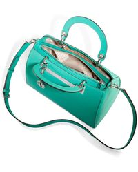 DKNY Saffiano Round Handle Leather Satchel - Lyst