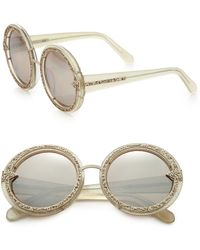 Karen Walker Orbit Filigree Plastic Round Sunglasses - Lyst