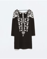 Zara Embroidered Tunic - Lyst
