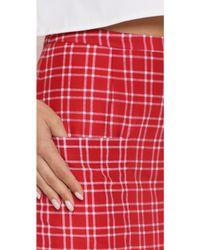 Jenni Kayne - Pocket Skirt - Red Plaid - Lyst