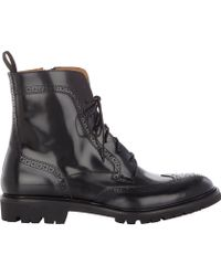 Barneys New York Wingtip Side-zip Ankle Boots - Lyst