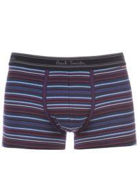Paul Smith Purple Varied Stripe Low-Rise Boxer Briefs - Lyst