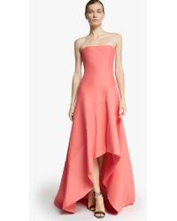 Halston Strapless Silk Faille Gown - Lyst