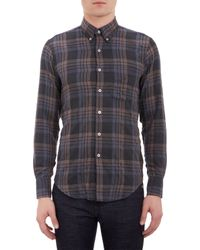 Naked & Famous Plaid Flannel Shirt - Lyst
