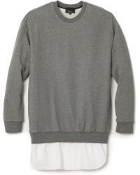 3.1 Phillip Lim Pullover with Shirttail - Lyst