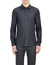 Michael Kors Chambray Shirt - Lyst