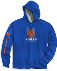4efadb767469 Champion - Exclusive Nba 2k New York Knicks Gaming Pullover Hoodie - Lyst