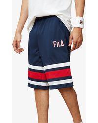 f8879ecd0145c Fila Parker Basketball Shorts in Blue for Men - Lyst