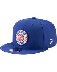 promo code 92204 0a3e7 KTZ Detroit Pistons Smoove Leather 9fifty Snapback Cap for Men - Lyst