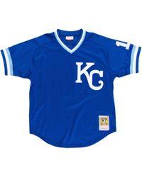 cc24c3b6f Mitchell & Ness Angels Reggie Jackson Baseball Tee in Blue for Men ...