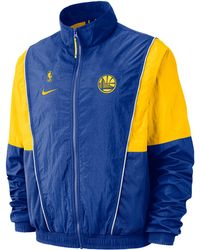 a1f0c5c243 Nike - Golden State Warriors Nba Throwback Track Jacket - Lyst