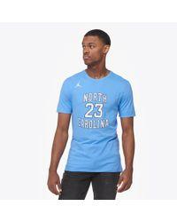 52ca763146d Nike Men's Short-sleeve North Carolina Tar Heels T-shirt in Blue for Men -  Lyst