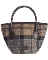 Barbour - Tartan Mini Tote Bag - Lyst