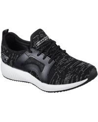 Skechers - Bobs Sport Squad Glossy Finish Womens Trainers - Lyst