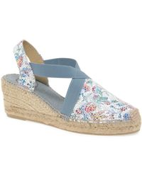 Toni Pons Telva Pm Womens Wedge Heel Espadrilles - Blue