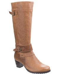 Hush Puppies - Devereux Womens Mid Heeled Knee High Boots - Lyst
