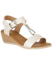Lotus - Ginny Womens Wedge Heel Sandals - Lyst