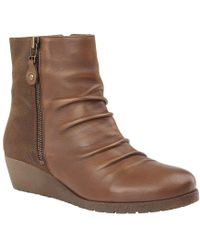 Lotus | Sonora Womens Wedge Heel Ankle Boots | Lyst
