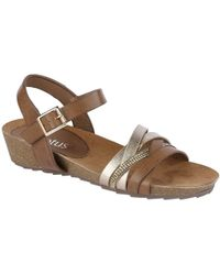 Lotus - Pika Womens Wedge Heel Strappy Sandals - Lyst