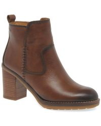 Pikolinos - Ploom Womens Stacked Block Heel Ankle Boots - Lyst