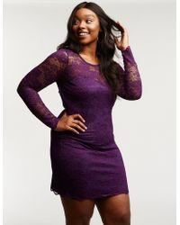 14154ba5630 Lyst - Charlotte Russe Plus Size Lace Strapless Bodycon Dress in Red