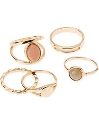 Charlotte Russe - Assorted Stacking Rings - 5 Pack - Lyst