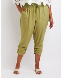 2fabfd5224327 Charlotte Russe - Plus Size Smocked Beach Pants - Lyst