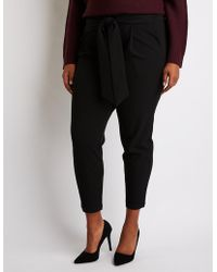 Charlotte Russe - Plus Size Tie Front Paperbag Trousers - Lyst