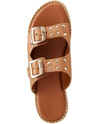 Charlotte Russe - Bamboo Double Buckle Slide Sandals - Lyst