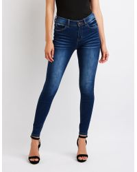 Charlotte Russe - High Rise Skinny Jeans - Lyst