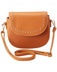 Charlotte Russe - Faux Leather Stud Crossbody Bag - Lyst