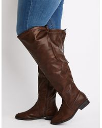 Charlotte Russe - Wide Width Over The Knee Riding Boots - Lyst