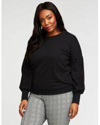 347bbe2010b Charlotte Russe - Plus Size Balloon Sleeve Sweatshirt - Lyst