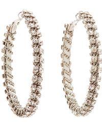 Charlotte Russe - Crystal Hoop Earrings - Lyst