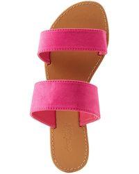 01fc863ff8c0 Charlotte Russe - Double Strap Slide Sandals - Lyst