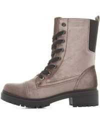 Charlotte Russe - Qupid Lace-up Combat Boots - Lyst