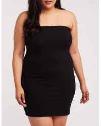 f1ddb806f09 Lyst - Charlotte Russe Plus Size Peplum Bodycon Dress in Black