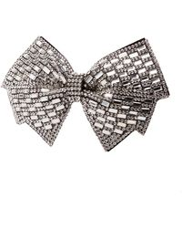 Charlotte Russe - Oversized Crystal Bow Hair Clip - Lyst