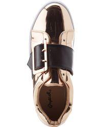 Charlotte Russe - Qupid Metallic Buckled Sneakers - Lyst