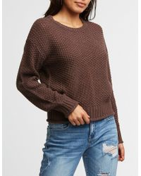 Charlotte Russe - Rolled Hem Pullover Sweater - Lyst