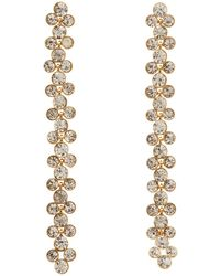 Charlotte Russe - Crystal Cascading Statement Earrings - Lyst