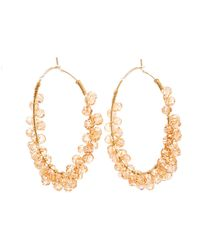 Charlotte Russe - Beaded Hoop Earrings - Lyst